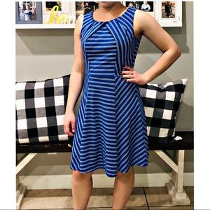 Blue and white stripped New York & Company Dress